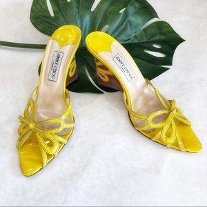 Jimmy Choo Yellow Platform Sandals Size 41.5